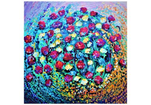 Flowers Spiral Light Purple