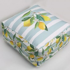 Lemon Pattern Pouf
