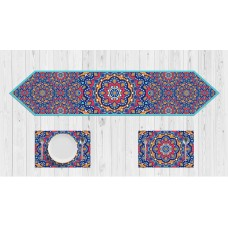 Ramadan Red Pattern Table Set