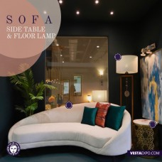 Mood board  Sofa  Lighting and side table