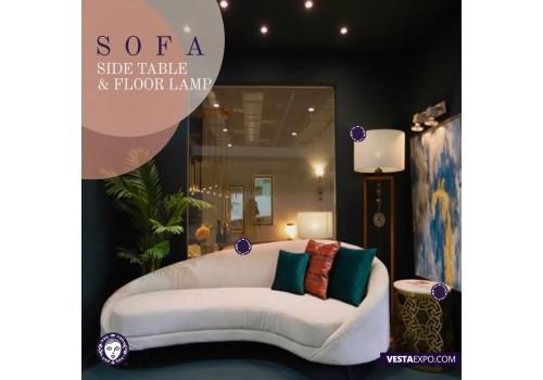 Mood board  Sofa  Lighting and side table