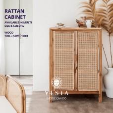 Rattan Cabinet wood