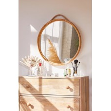Corin Rattan Round Wall Mirror